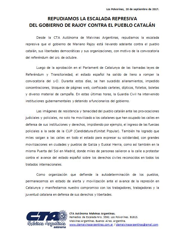 CTAA-Repudio-Rajoy-Solidaridad-Catalunya